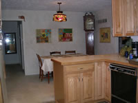 A View of the Kitchen to the Dining Room